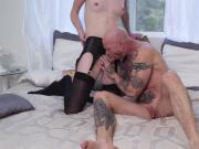 Beautiful hot TS Mandy Mitchell tries to fuck Bucks pussy