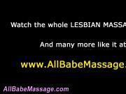 Radiant lesbian masseuse