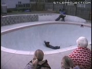 Skateboard Flies To The Nuts