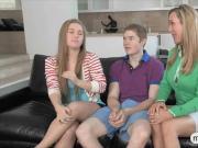 Beautiful teen girl Madison Chandler horny threesome action