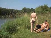 Bisexual MMF Threesome Picnic