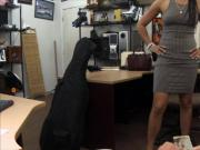 Hottie pawns her pussy and gets fucked at the pawnshop
