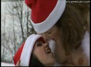 Angelina Crow and Virginee - Santa lesbians play in the snow