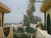 Soldiers Hit By Flying Explosion Debris