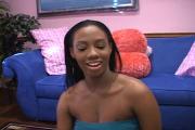 Shameless Black Girl Puts Meaty Penis In Lips
