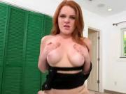 Hot Vixen Ginger Rose Engulfs Massive Cock Of Stud