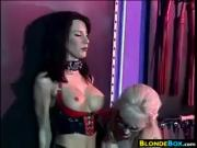 Dominatrix Using Her Slave