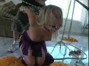 Naughty Cheerleader Shawna Lenee Gets Stripped Off