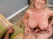 Stepmom Brandi Love helps young guy with his boner