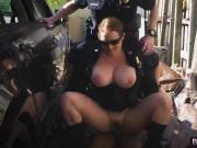 Hot Female Cops Maggie Green And Joslyn Force Black Guy Into Three Way Sex