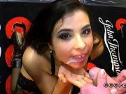 German chick gets bukkakes with facials