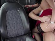Brunette Vicky sucks dudes cock in exchange for a free ride