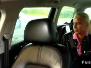 Huge dicked taxi driver fucks blonde