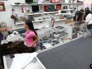 Latina pawns her old mink coat and boned at the pawnshop