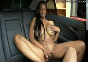 insanely hot black chick with huge perfect tits fucking