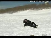 Reporter nailed by sledder