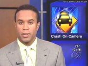 Car Crash Caught Live On Camera During News Report