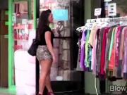 Big booty Cami Smalls found a huge dick in a glory hole