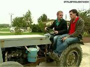 Dude Falls Off Tractor