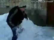 Kid Falls 5 Stories Into Snow