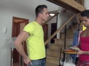 Gay masseur and amateur straighty massage