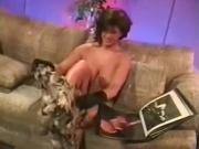 Busty MILF Holly Body strips and fucks