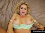 'Big Boobed Big Booty Ryan Conner Gets Face & Pussy Fucked By Miles Long POV'