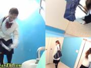 Asian babes urinating