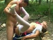 German Girl fucked in the Forest