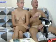 Bald girl. Behind of scene. DP, double anal, triple fuck FOXANDFOXY
