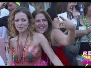 Wild Street Party Flashing in Key West Super High Quality Clip 3