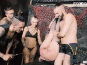 CrowdBondage - Russian Girl Angela Vidal Gets Her Pussy Spanked And Fucked
