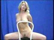 Blonde dances to sensual Music