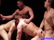 Muscled hunks buttfucking hard