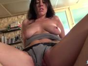 La Cochonne - Slutty French amateur takes anal and facial from interview