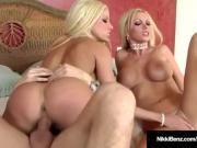 Penthouse Pets Nikki Benz & Gina Lynn Milk A Big Hard Cock!