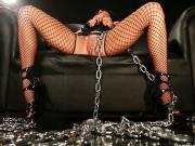 Chained and roughed up