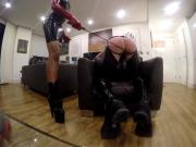 Mariam pegging caning on boutiquefetiche