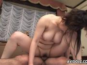 Asian slut is having sex in every position im