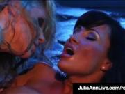 Mega Hot Milfs Julia Ann & Lisa Ann Lick Pussy In Retro Film