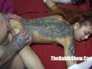 freaky petite asian banged by hood rican tatt