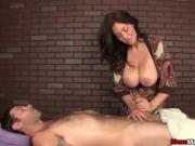 Sexy big-titted lady cock treatment
