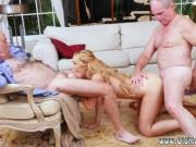 Melanie's dirty old lady hot man gangbang creampie