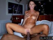 BLACKEDRAW Beautiful hot wife loves to rim black bulls in hotels