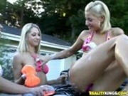 Hot babes washing cars