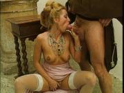Monk taking advantage of a blonde