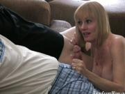 Two stiff cocks for Melanie Sky