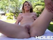 HOLED Backyard anal massage fuck with juicy creampie for Aspen Ora