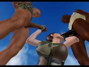 "Lara Croft ""Threesome in ruins"""
