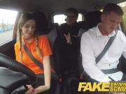 Fake Driving School horny examiner loving those big natural young tits